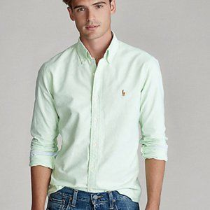 Polo Mint Green Classic Oxford Fit 16